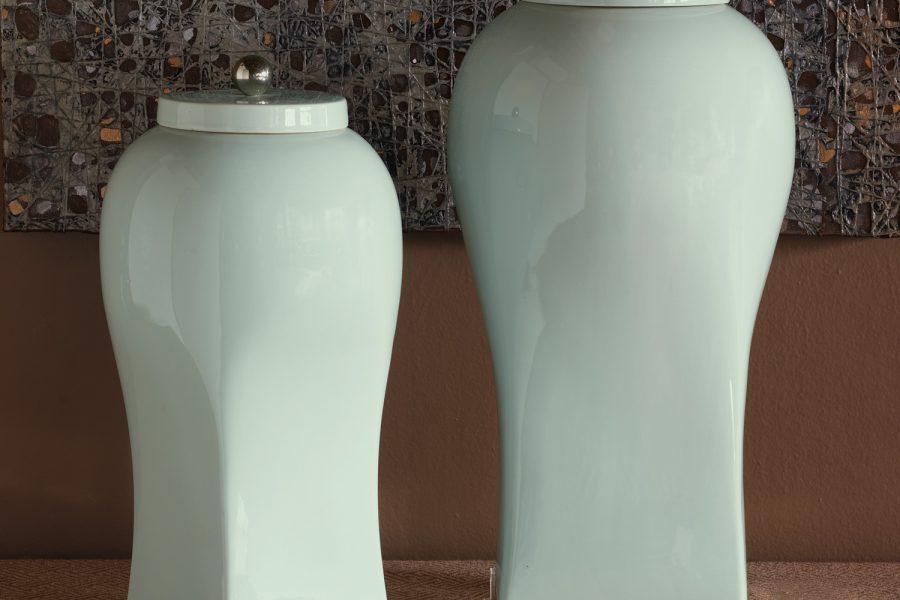 Boulevard Celadon Large Jar 20 H 3